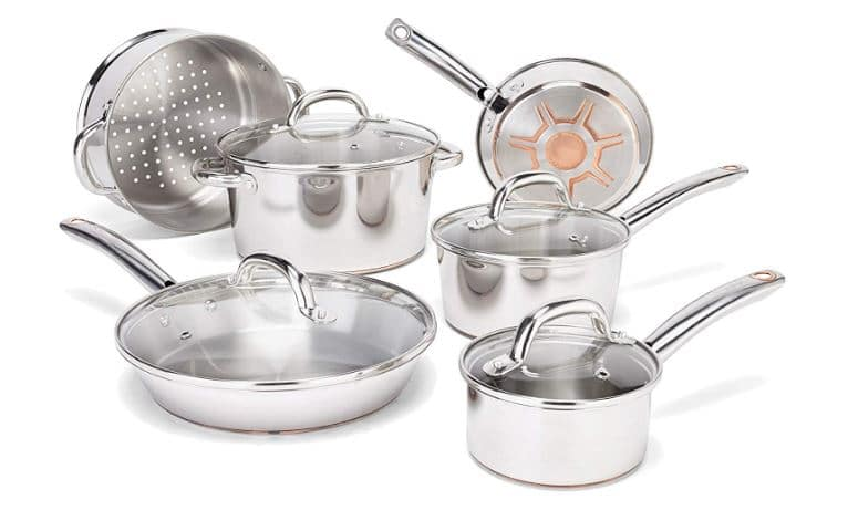 T-fal C836SD Ultimate Stainless Steel Copper Bottom 13-Pieces Cookware Set