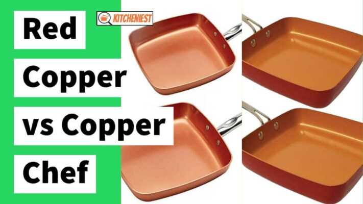 comparison between red copper and copper chef