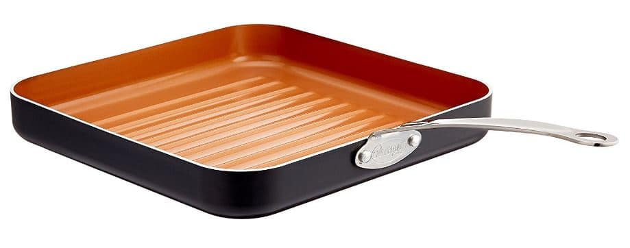 GOTHAM STEEL 10.5-inch Non-Stick Grill Pan with Ti-Cerama Surface