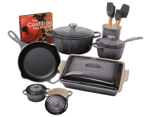 Review of Le Creuset Oyster 14 Piece Cookware