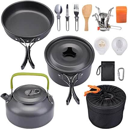 G4Free Camping Cookware 413 Piece Mess Kit Review