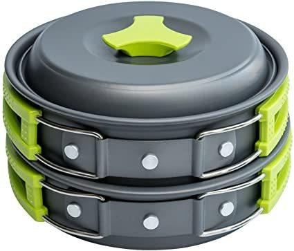 MalloMe Camping Cookware 10- Piece Mess Kit Review