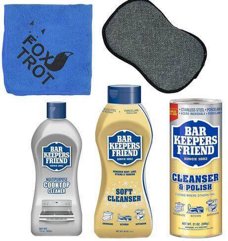 how to use Bar Keepers Friend Cleanser Trio