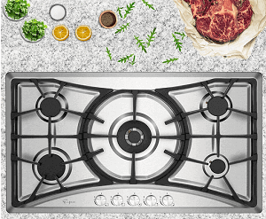 Empava 36 in. Gas Stove Cooktop